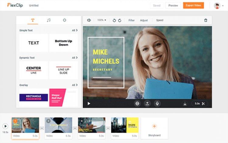 منصة flexclip لتصميم فيديو إحترافي مجانا